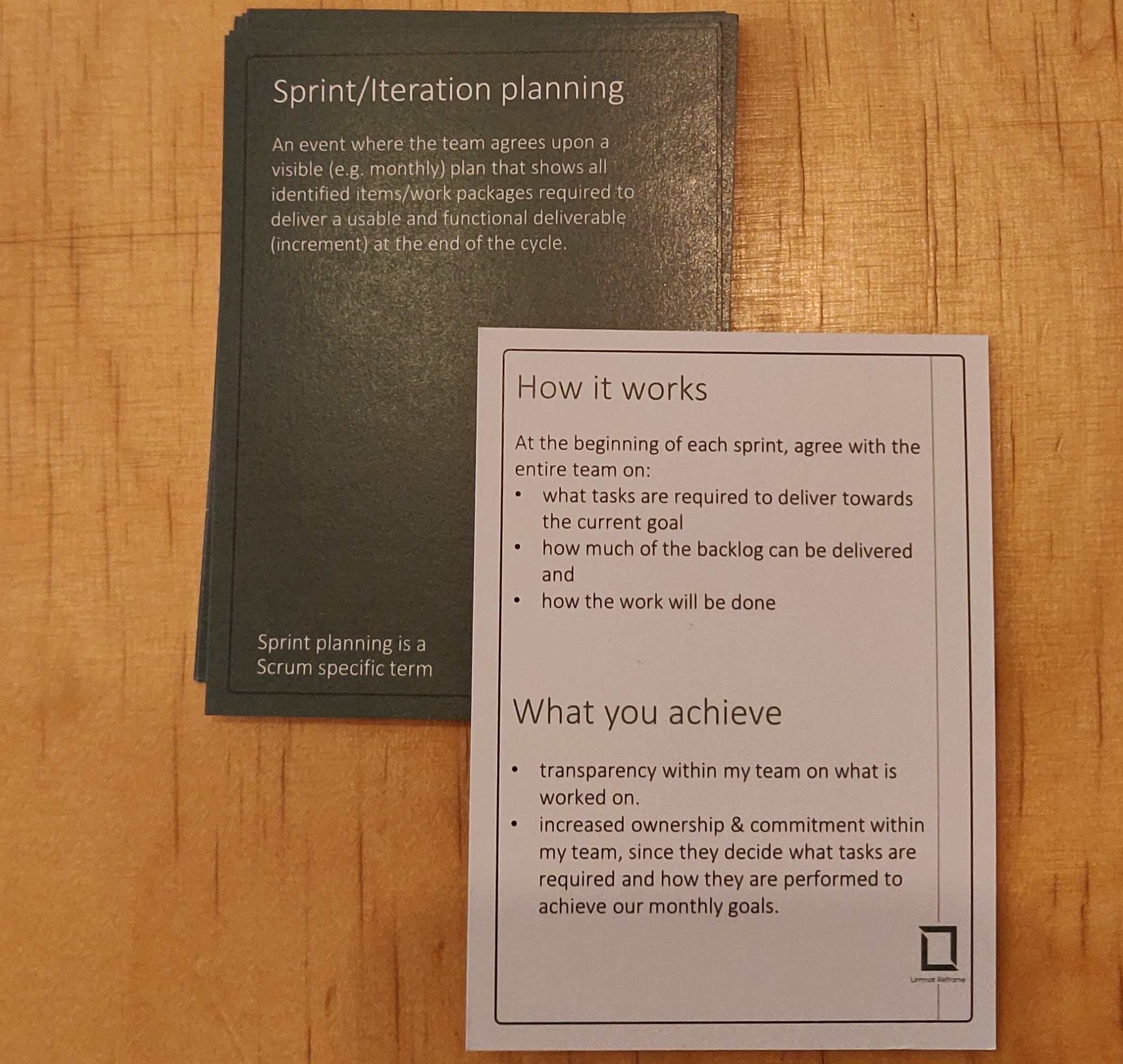 Agile Booster Deck LimmatReframe showing the Sprint Planning